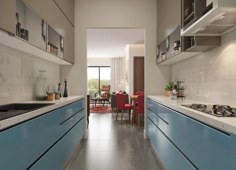 parallel modular kitchen  lifestyle kitchens
